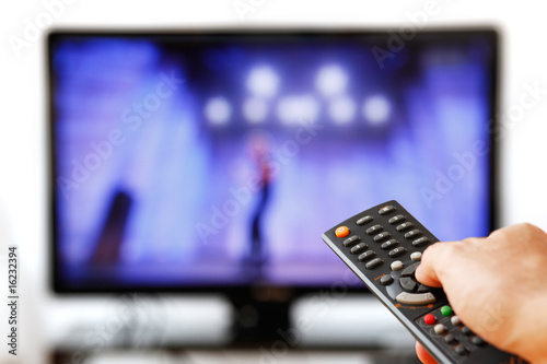 canvas print picture TV Remove Isolated on White.
