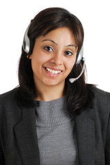 Customer support smiling