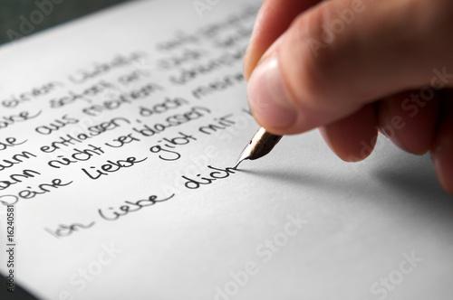 Leinwanddruck Bild Liebesbrief