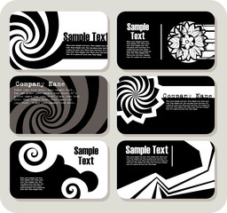 Collection of horizontal business cards templates