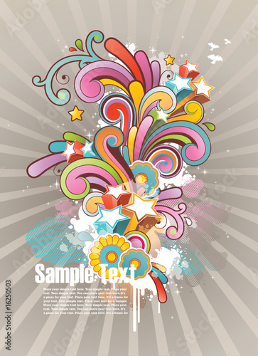 background with floral ornament and free space for your text