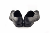 Men's classic leather shoes rear view