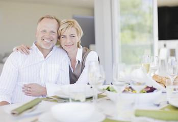 Couple enjoying elegant dinner