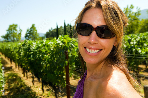 Pretty Girl at a winery
