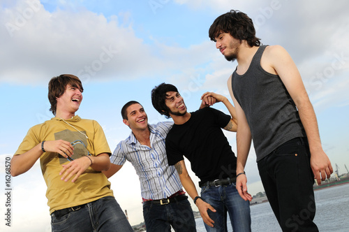 Casual group of male friends