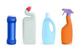 detergents - vector illustration poster