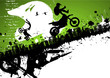 Motocross freestyle abstract background