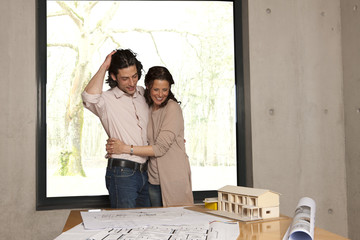 arm in arm with the house model