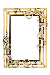 Empty Golden Decorative Frame