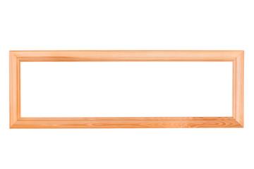 Long Empty Wooden Frame
