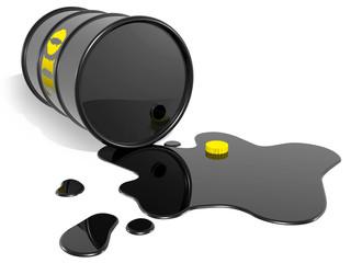 oil barrel empty
