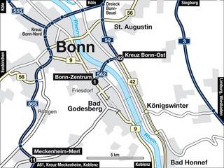 Stadtplan Bonn, Deutschland