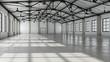 Leinwanddruck Bild - Still Indoor #12 - Halle Weiß
