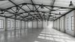 Leinwanddruck Bild - Still Indoor #13 - Halle Weiß