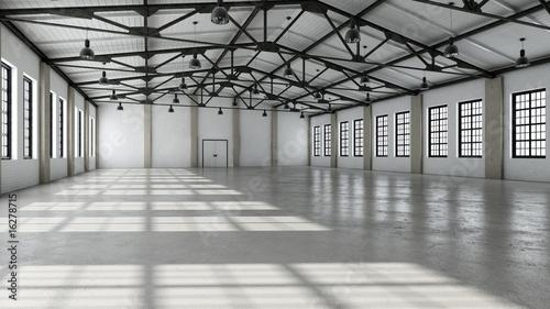 Leinwanddruck Bild Still Indoor #12 - Halle Weiß