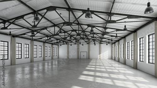 Leinwanddruck Bild Still Indoor #13 - Halle Weiß