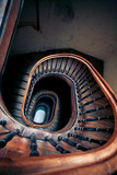 Very old spiral staircase poster