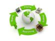 Global Business Flow green