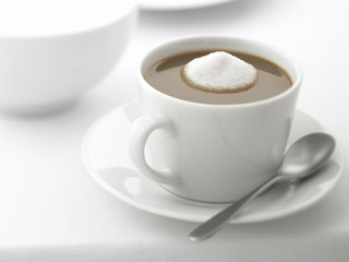 Close up of coffee with too much sugar