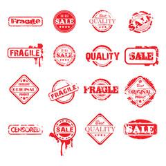 twelve red stamps