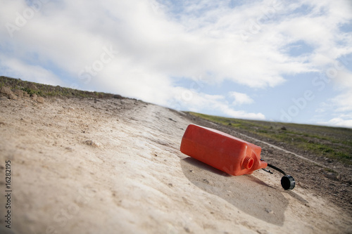 Close up of gas can in remote area