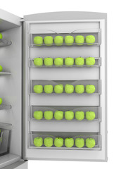 Apples in refrigerator