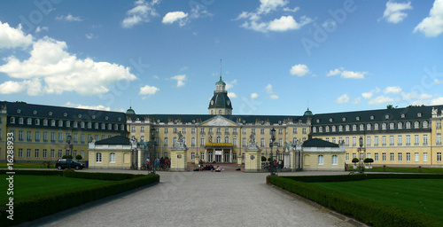 Leinwandbild Motiv Schloss Karlsruhe