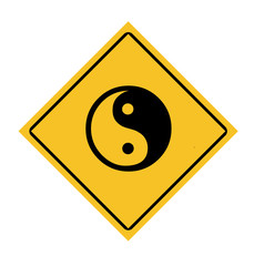 Yin and Yang road sign