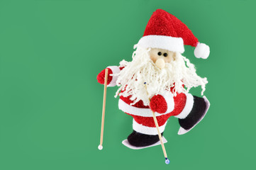 christmas decoration, Santa Claus with ski