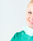 Female Surgeon smiling