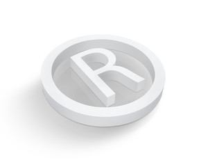 White Registered trademark symbol