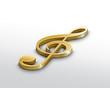 Gold Treble clef