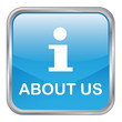 "Square vector ""ABOUT US"" button (blue)"