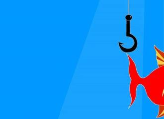 pesce  rosso che sorpassa l'amo