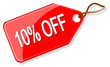 Sale tag - 10% off