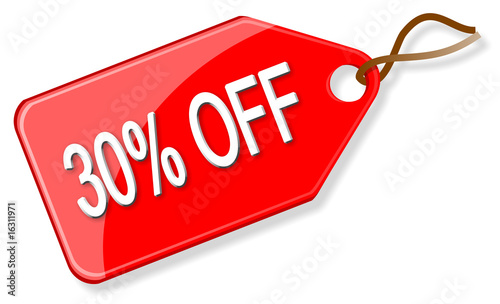 Sale tag - 30% off