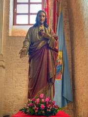 Jesus Christ statue.
