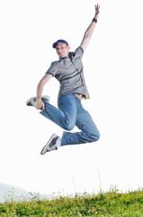 man jump outdoor