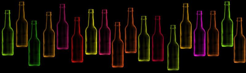 bouteilles fluo