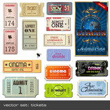 Fototapety vector set: tickets in different styles