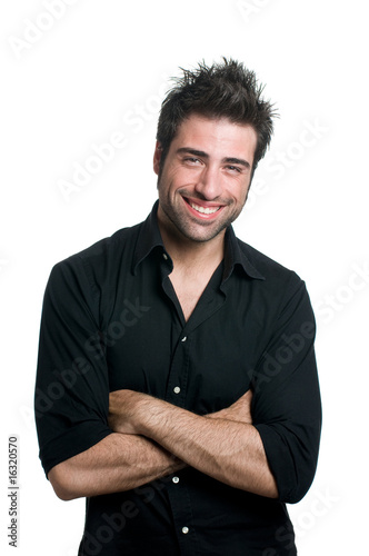 Smiling latin man