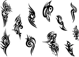 Tattoo, Tribal Ornament, Muster, XXL Set