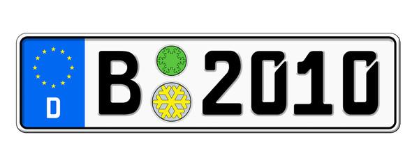Autokennzeichen 2010