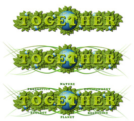 Together to save the earth Concept - Protect the nature