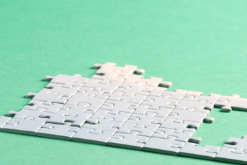 Jigsaw piece white