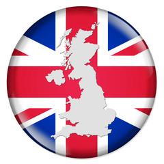 3D-Button Europäische Union - Vereinigtes Königreich