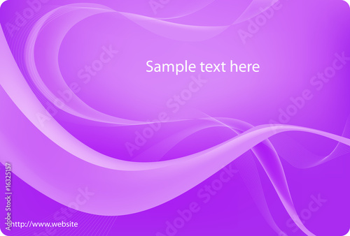 Purple abstract curved background