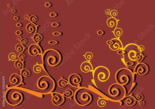 brown abstract decoration