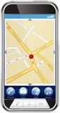 Smart Phone et cartographie (détouré) poster