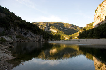 Very quiet place on the ardeche in France